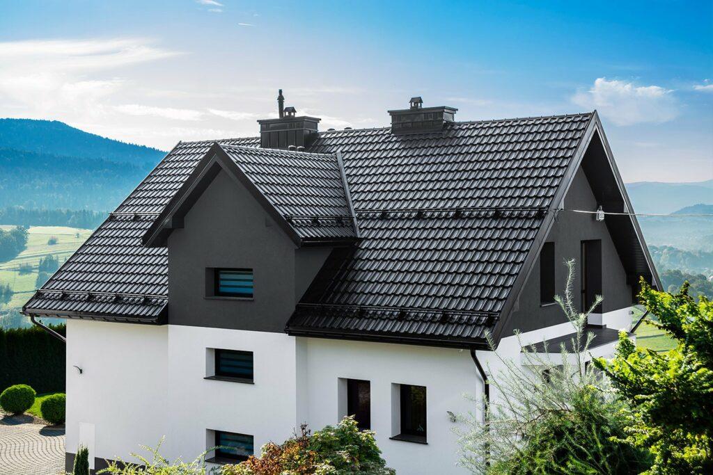 Jumta segumi, metāla dakstiņa jumts
